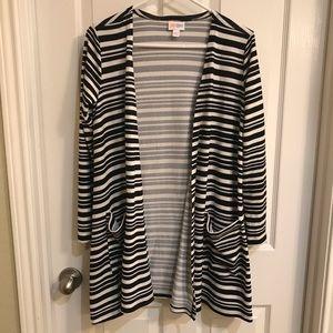 Black & White striped Lularoe Caroline